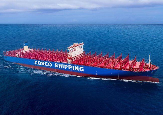 Nova embarcação da COSCO para 20.000 TEUs é o primeiro a receber certificado AL3.
