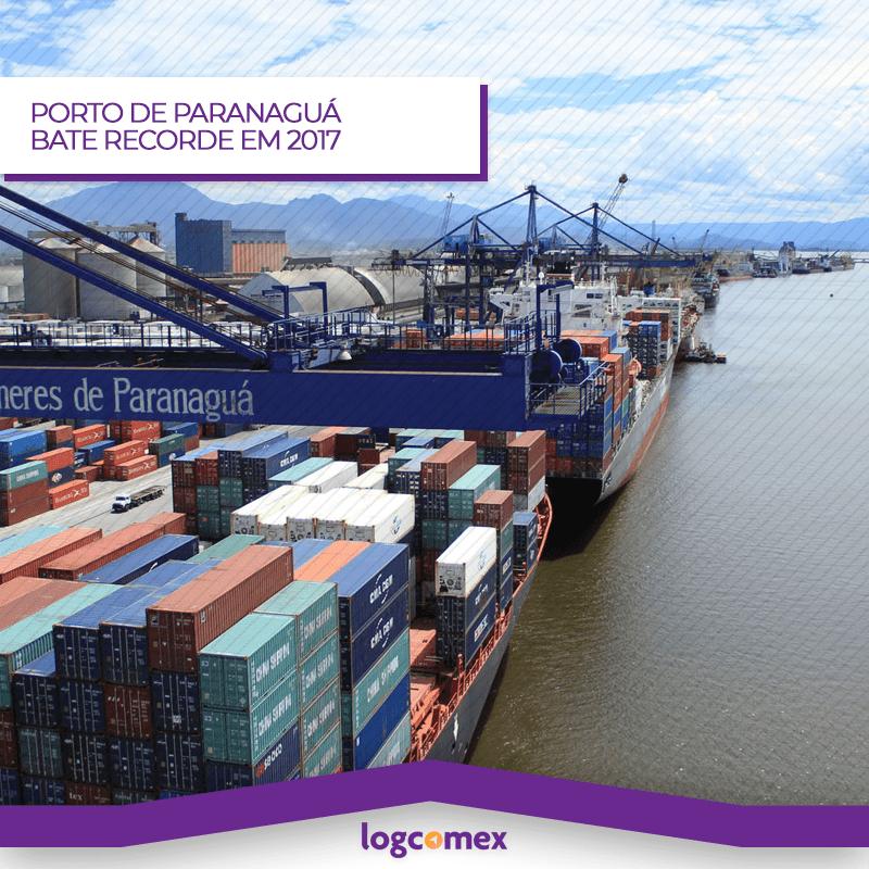 Porto de Paranaguá bate recorde em 2017