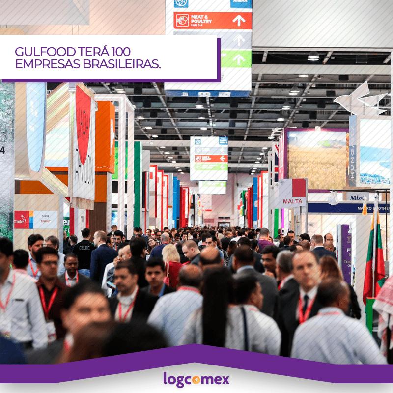 GULFOOD em Dubai, terá participação de 100 empresas brasileiras.