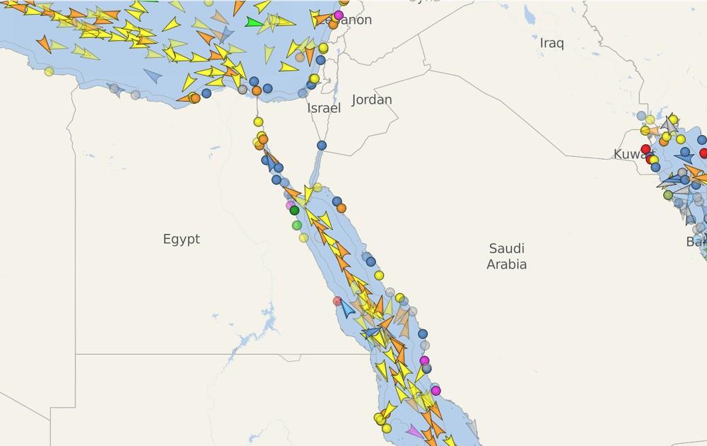 Escolha da rota na exportação — Canal de Suez