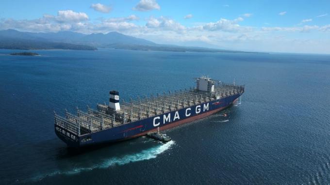 O grupo CMA CGM anunciou a chegada do Antonie de Saint Exupery, a maior embarcação com a bandeira francesa.