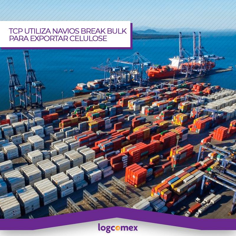 TCP dá início às exportações de celulose em navios break bulk