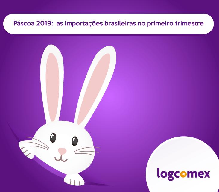 Páscoa 2019: importações brasileiras no primeiro trimestre
