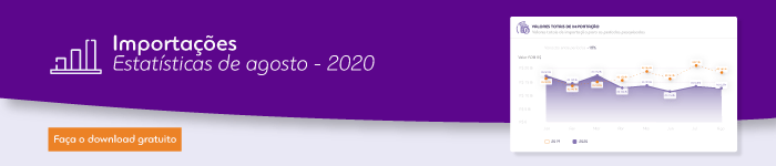 Infográfico LogComex Estatísticas de Importações - Agosto 2020